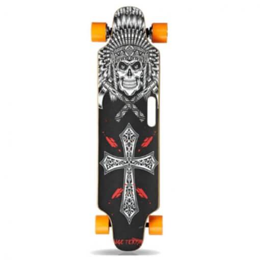 longboard electrique squelette